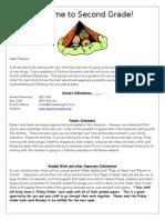 parent note (short version)- 2nd grade