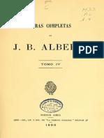 Alberdi, Juan Bautista. Obras Completas (Vol. IV)