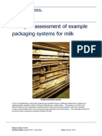 Life Cycle Assessment Example for Milk