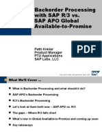 Backorder Processing with SAP R/3 vs.           SAP APO Global Available-to-Promise
