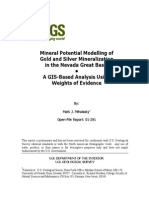 Mineral Potential Modelling of Gold and Silver Mineralization