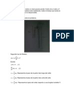 Ejercicio resuelto de cuerda colgando ecuaciones diferenciales