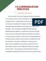 Leader's Communication Practices by Sunil Sarkar