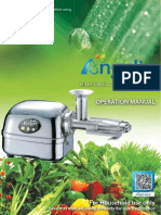 Angel Juicer Manual 5500 7500 8500