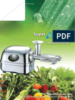 Super Ange Juicer Manual