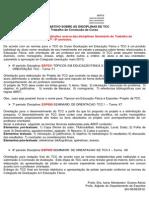 Informativo Sobre as Disciplinas de Tcc_trabalho de Conclusão de Curso