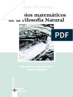 Newton, Isaac - Principios Matemáticos de La Filosofía Natural Ed. Tecnos