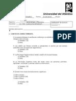 Examen Aprendizaje y Memoria. 31 Mayo 2015. Examen Con Respuestas.