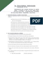 Memoria Descriptiva Villa Rica 100