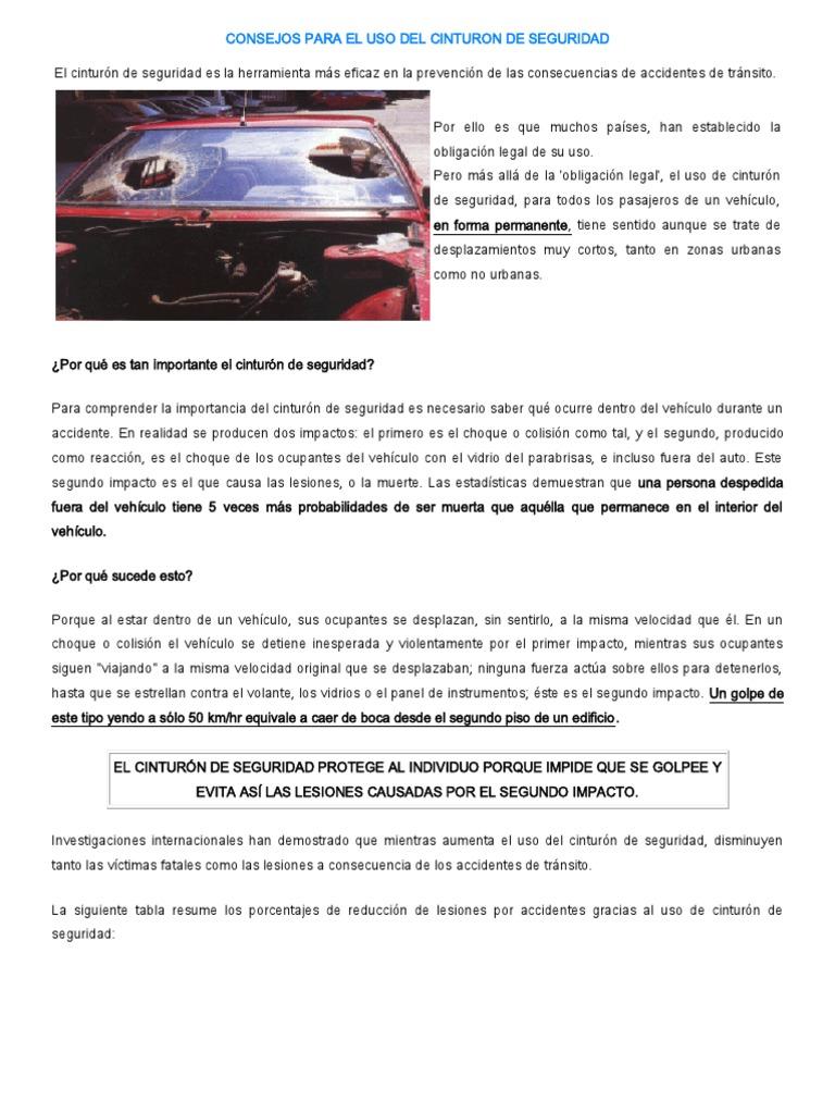 Consejos Para El Uso Del Cinturon de Seguridad 06c5c4afeb0f