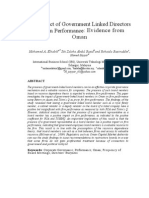 The Impact of Government-linked Directors on Firm Performance - Evidence From Oman