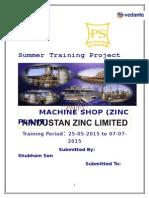 HZL Shubham Sen Training Report