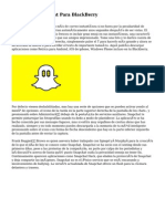 Descargar Snapchat Para BlackBerry