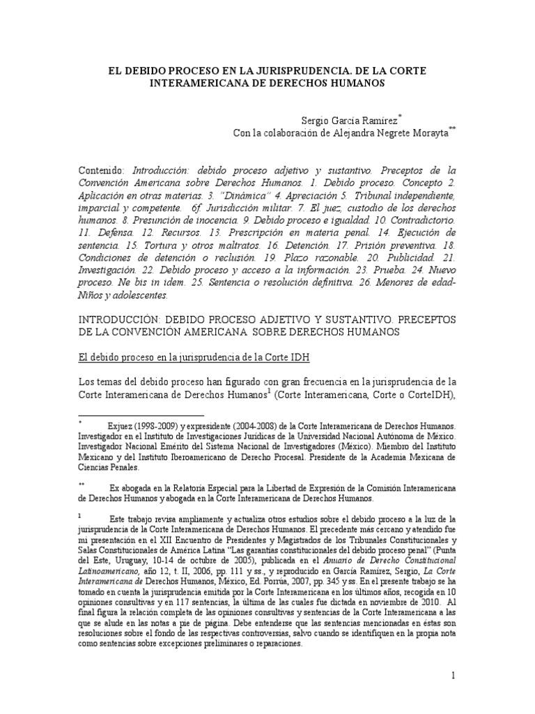 El Debido Proceso en La Jurisprudencia de La CorteIDH (Sergio García  Ramírez)