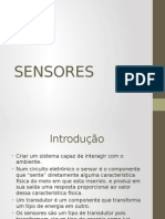 Sensores  aplicações