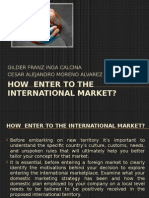 How Enter to the International Market - English VII