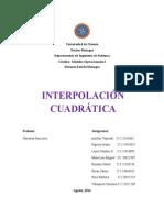 INTERPOLACIÓN CUADRÁTICA