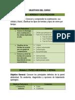 Objetivos y Contenidos Cirugia 2013final