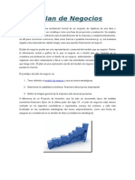 Plan de Negocios - Características estructurales