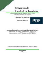 EDUCAÇÃO POLÍTICA E CONSCIÊNCIA CRÍTICA