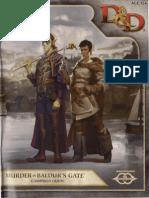 Murder in Baulder's Gate Campaign Guide