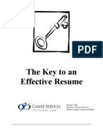The Key to an Effective Resume