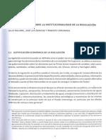 Marco Teórico Sobre La Institucionalidad de La Regulación