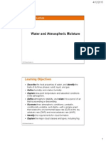 Water _ Atmospheric Moisture Lect 5