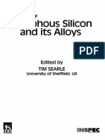 Properties of Amorphous Silicon and Its Alloys E M I S Datareviews Series