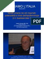 Inceneritori e Inquinamento Dott Tomatis Di Valerio-Gennaro