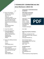 PSG Coimbatore Mandatory Disclosure (2015-16)