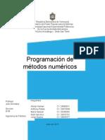 programacion de Metodos