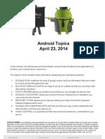 Android Topics 2014 Apr 23