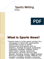 Basic Sports Writing