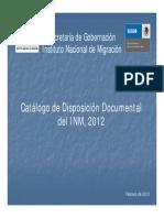 Catalogo de Disposicion Documental Del Inm 2012