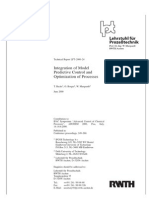 Integration of Model Preditive Control and Optimization or Processes