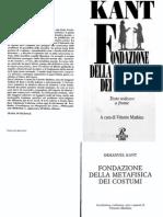 Kant - Fondazione Della Metafisica Dei Costumi (Testo Tedesco a Fronte)