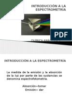 Introducción a La Espectrometría