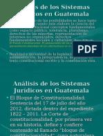 Análisis de Los Sistemas Jurídicos en Guatemala