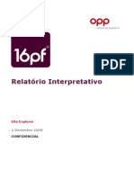 16PF Interpretive Report Portuguese-European