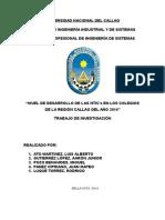 NIVEL DE DESARROLLO DE LAS NTIC's EN LOS COLEGIOS