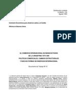 El Comercio Internacional de Manufacturas Argentinas 1974-1990
