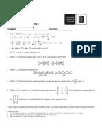 Primer Examen Algebra Lineal i 2009 A