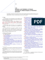 Standard Practice for Optimization, Calibration, and Validation of Atomic Absorption Spectrometry for Metal Analysis of Petroleum Products and Lubricants1