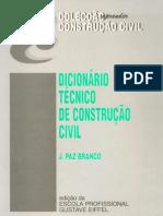 Dicionario Tecnico de Construcao Civil