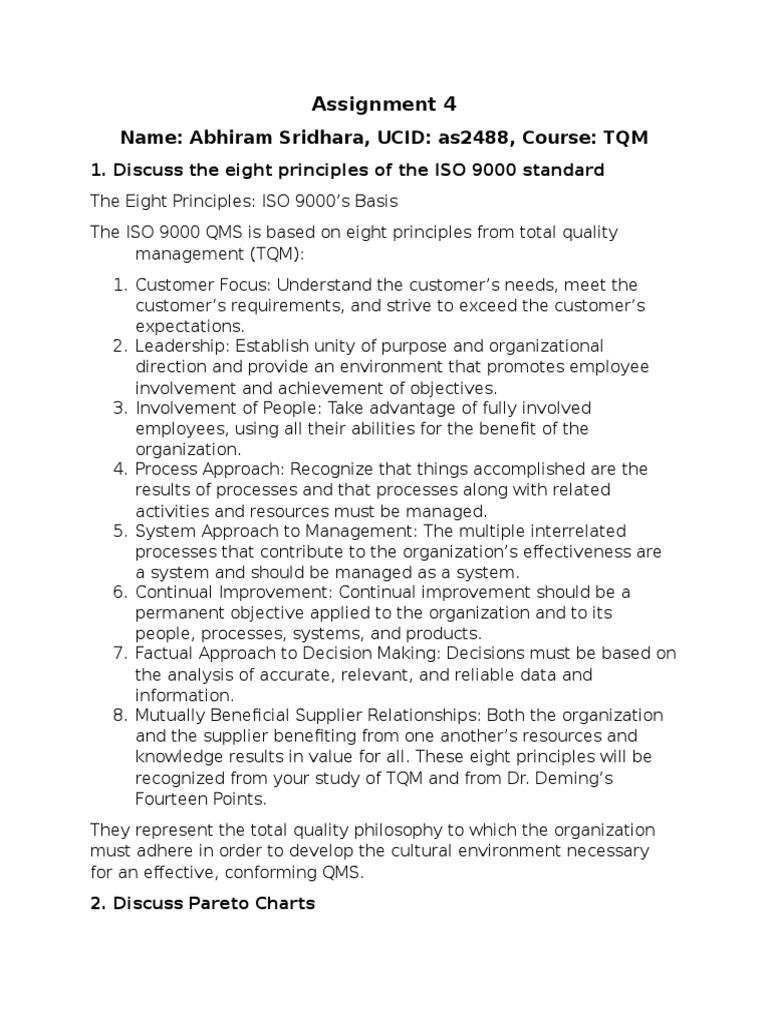 tqm assignment technology business