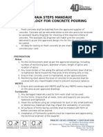 Concrete Pouring Methodology