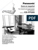 Manual de Fax Panasonic Kx-fp205