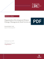 Organization Development Primer Change Management Kurt Lewin and Beyond