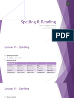 unit 3 -spelling and reading - lesson 11 to 15